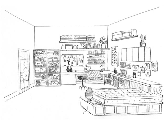 1 atelier de couturi re laetitia desmond d coratrice - Comment organiser sa chambre d ado ...