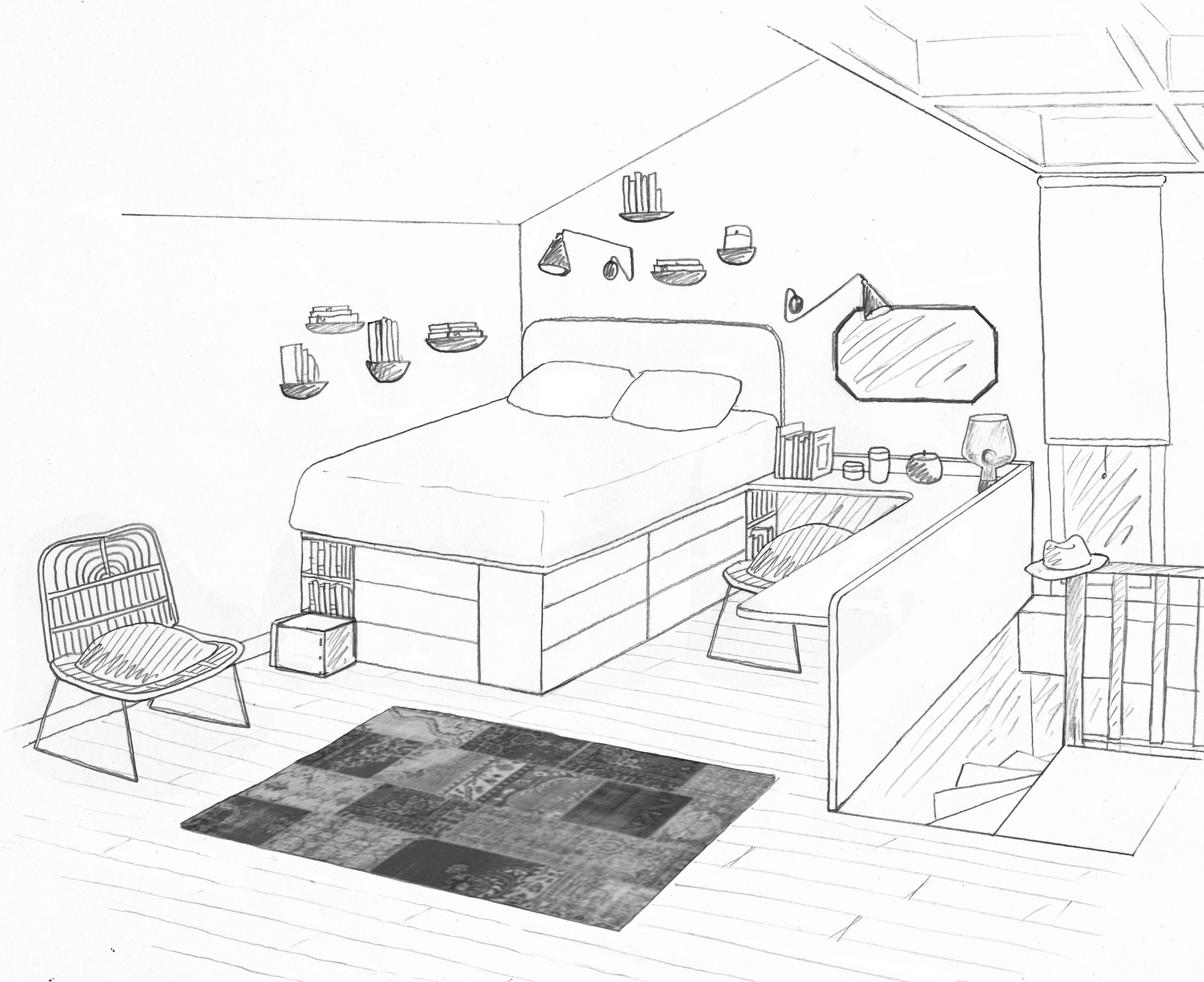° étage d une maison chambres bureau salles d eau
