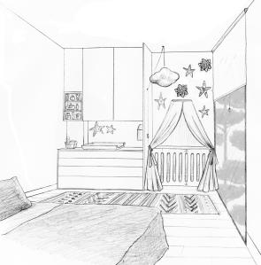 Awesome Chambre En Perspective Facile Photos - Matkin.info ...