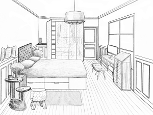 Stunning Dessin Chambre Perspective Ideas - Design Trends 2017 ...