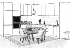 Puteaux-cuisine-table